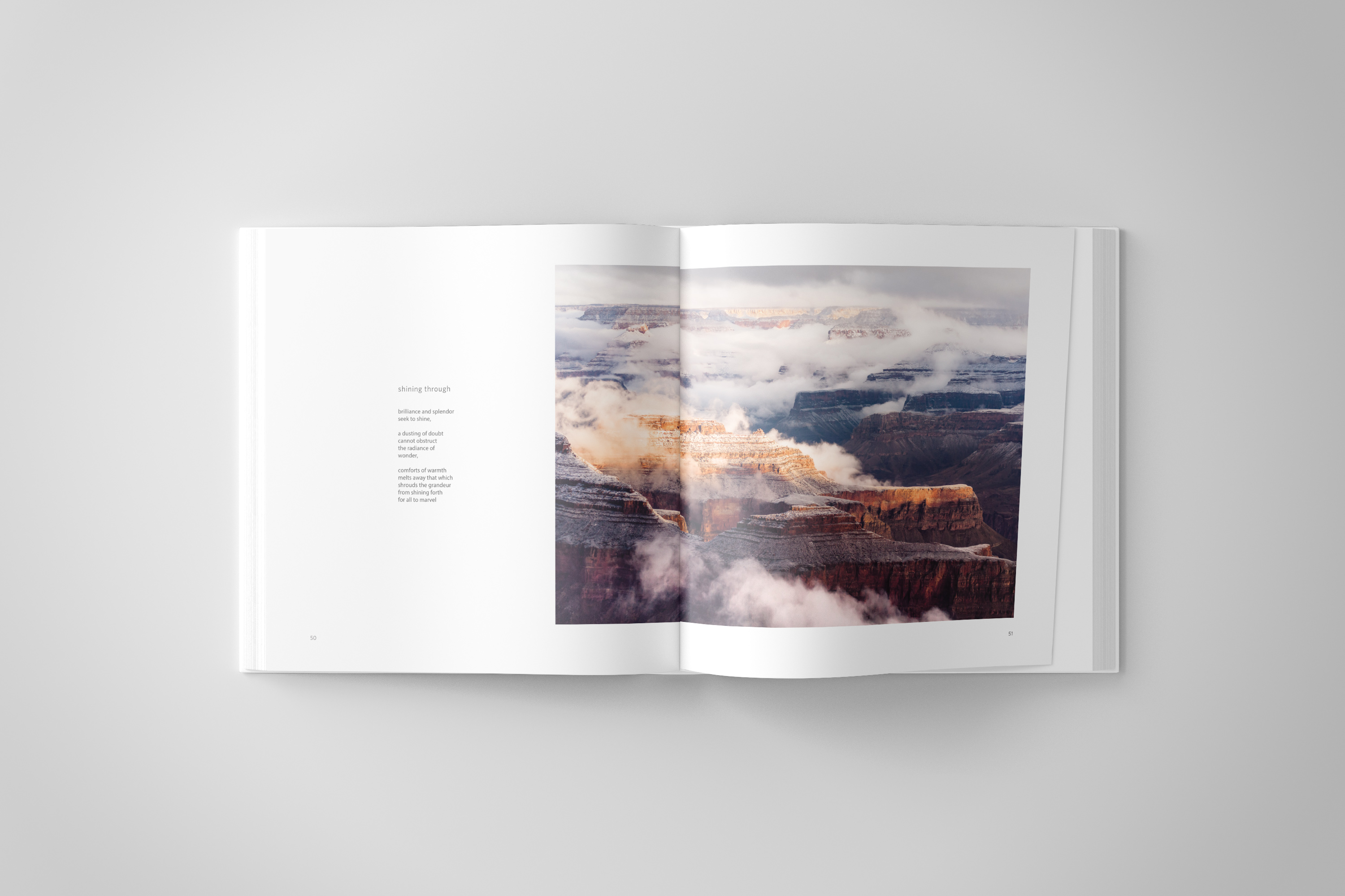 Inside spread with Grand Canyon Image and Poem